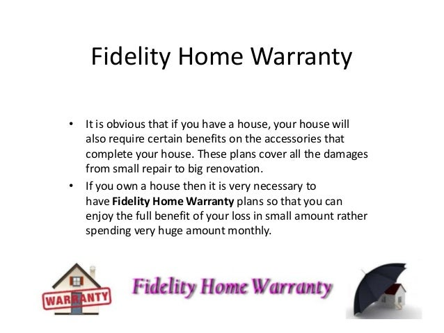 Fidelity Home Warranty