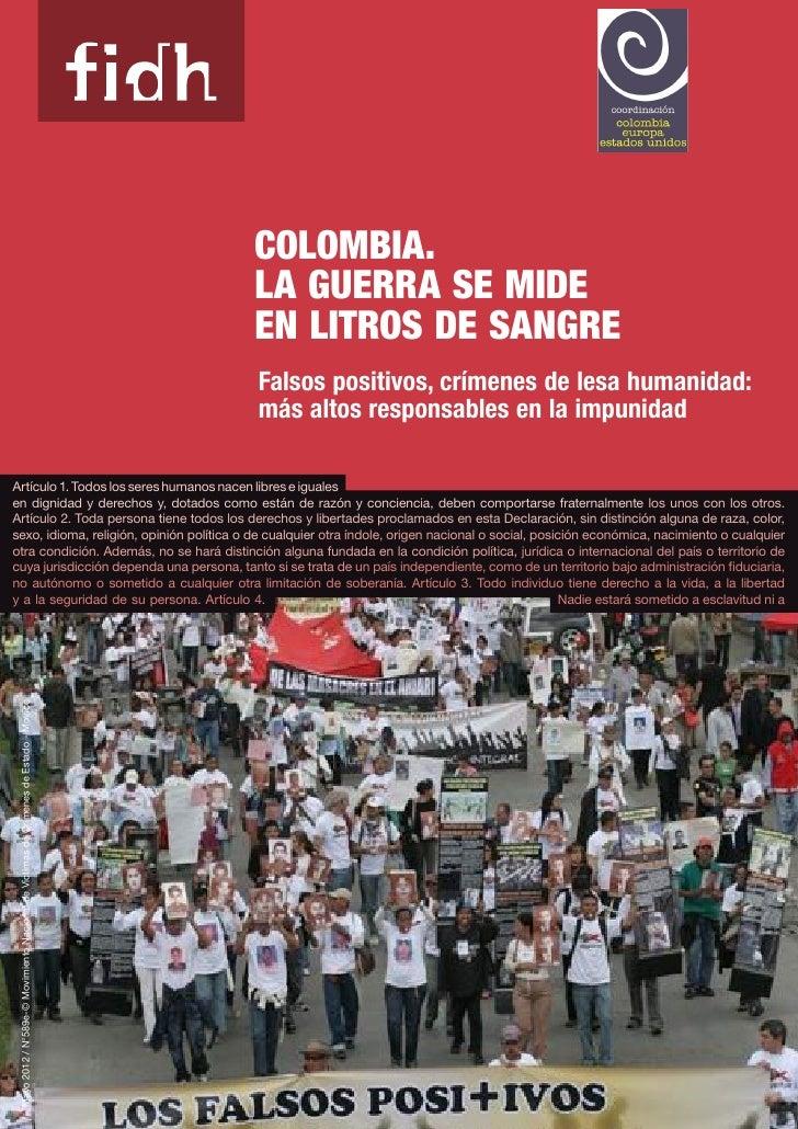 Fidh colombia la guerra se mide en listos de sangre