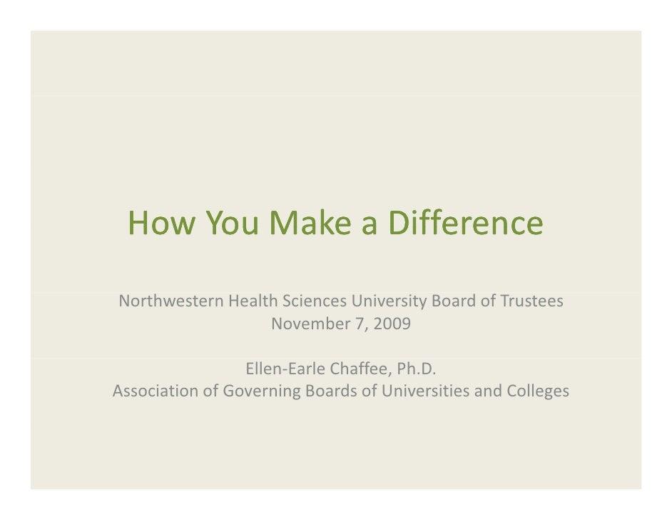 How You Make a Difference  HowYouMakeaDifference NorthwesternHealthSciencesUniversityBoardofTrustees            ...