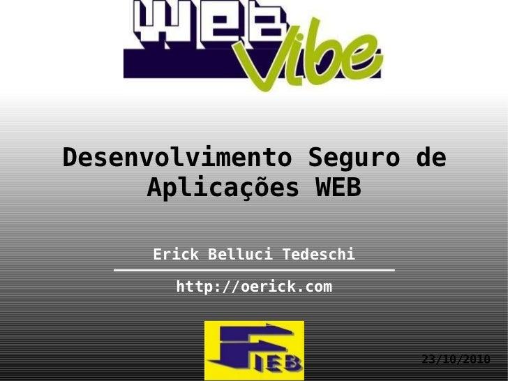 FIEB - WebVibe - Desenvolvimento Seguro de Aplicações WEB