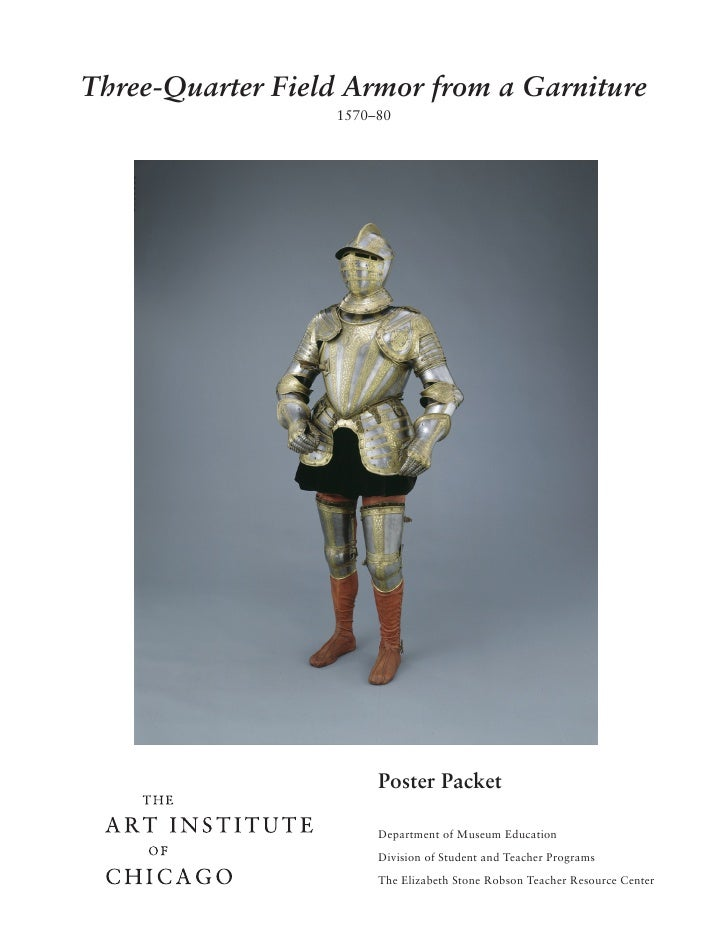 Three-Quarter Field Armor from a Garniture                   1570–80                            Poster Packet             ...