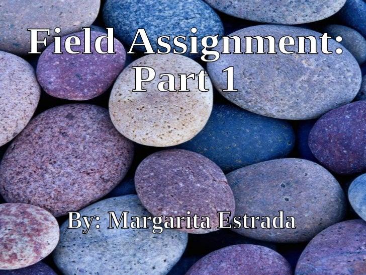 Field assignment part 1