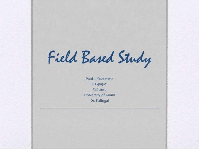 Field based study ED489