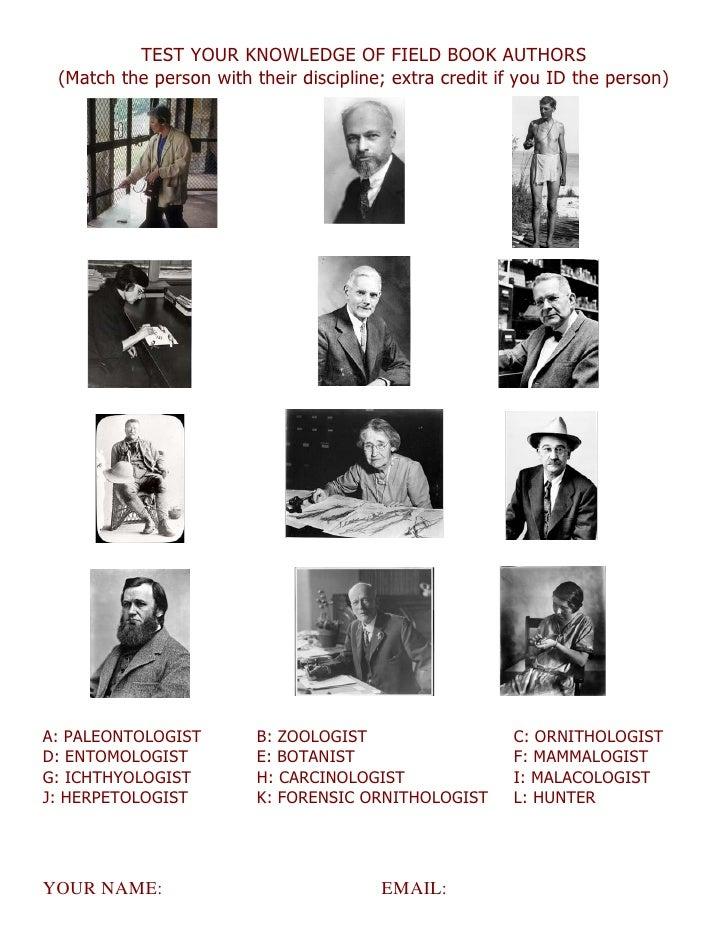 Fieldbook quiz 2012