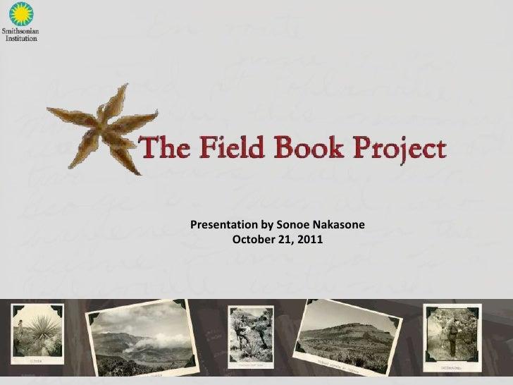 Presentation by Sonoe Nakasone       October 21, 2011