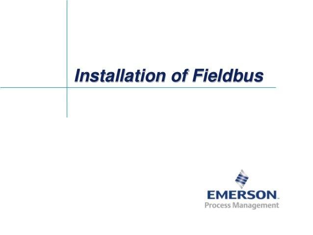 Installation of Fieldbus