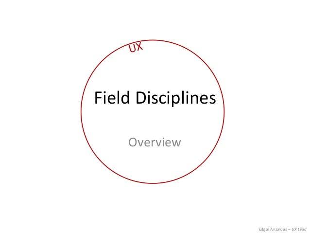 Edgar Anzaldúa – UX LeadField DisciplinesOverview