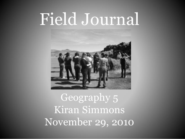Field Journal: Geography 5