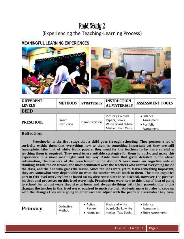 The teaching process Essay