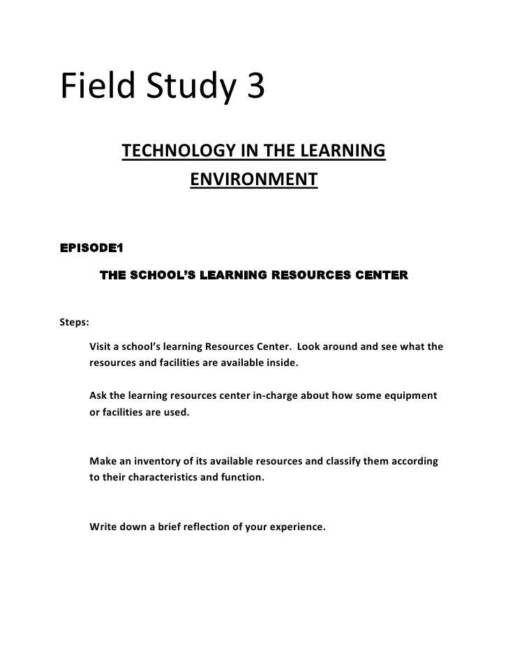 Field study 3 mhet