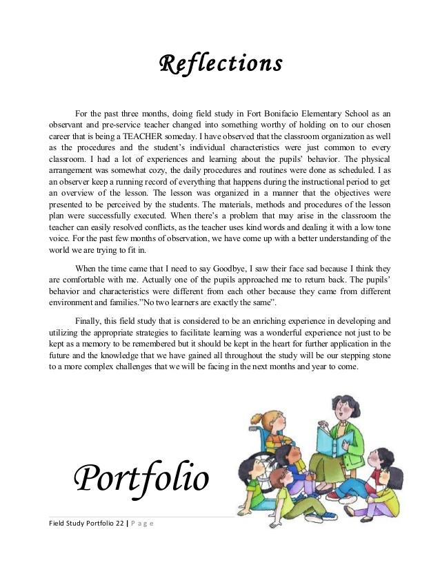 field study portfolio