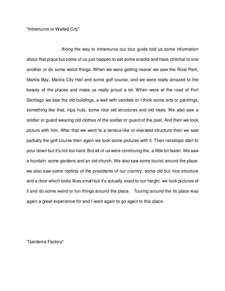 essay about educational tour