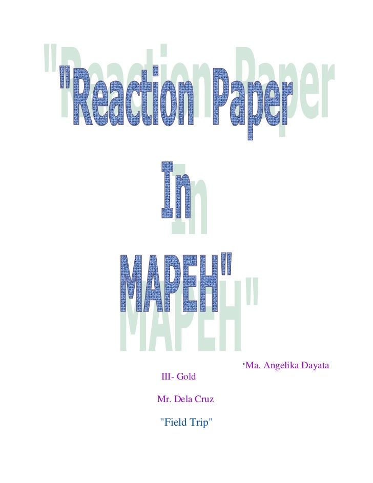reaction paper philippine revolution Extracts from this document introduction february 27, 2003 biodiversity -reaction paper #1 on february 20, 2003, distinguished scholar-teacher dale bottrell from the department of.