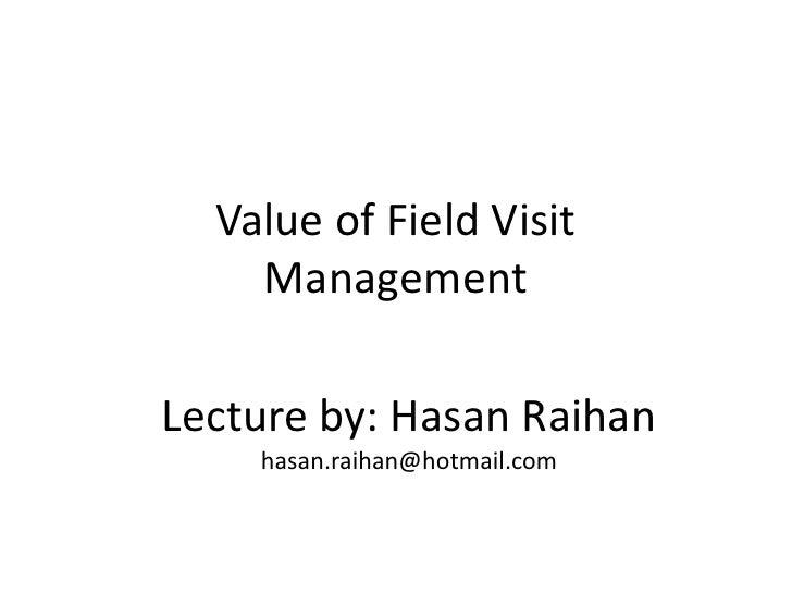 Field Visit Management