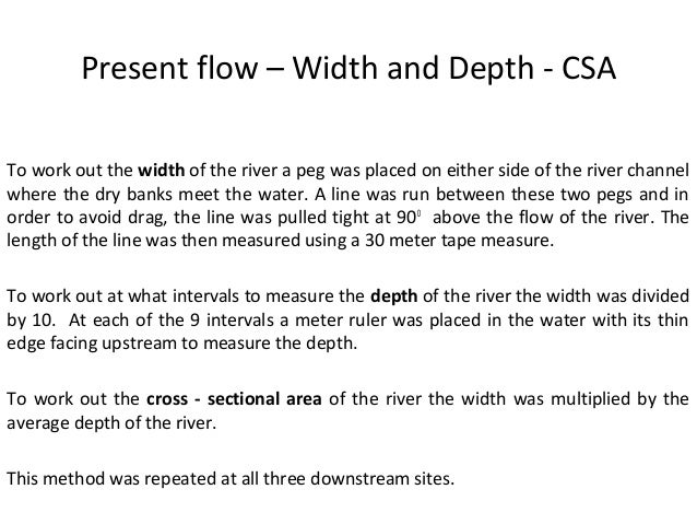 How do you calculate the WETTER PERIMETER of a river?