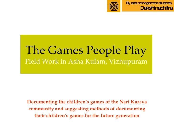Narikuravar Children's Games in Ashakulam settlement, Villupuram