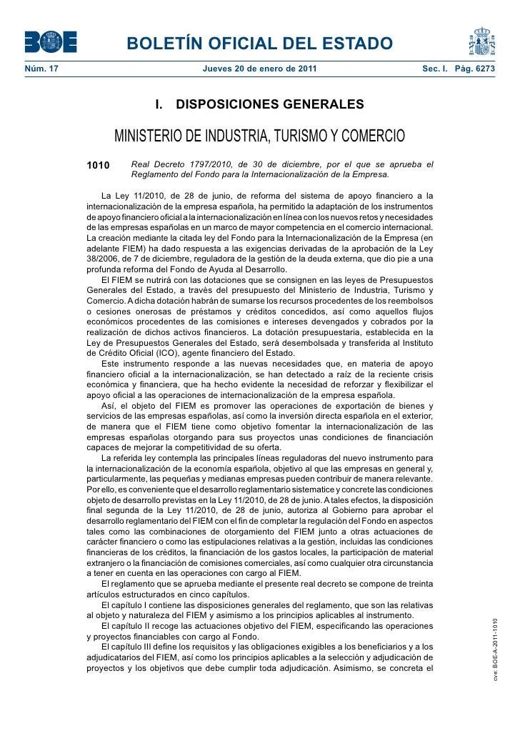 BOLETÍN OFICIAL DEL ESTADONúm. 17                                    Jueves 20 de enero de 2011                           ...