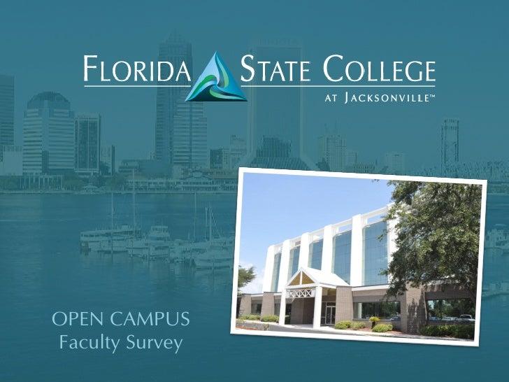 OPEN CAMPUSFaculty Survey