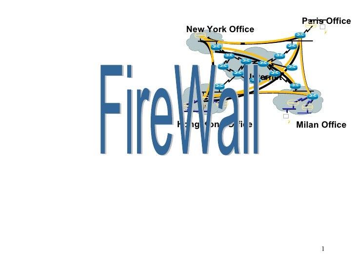 FireWall New York Office Paris Office Milan Office Hong Kong Office Internet