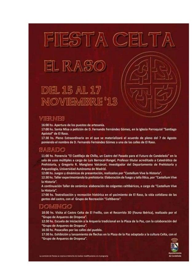 Fiesta celta en Candeleda,Gredos sur : 15-16 de noviembre