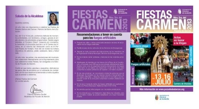 Fiestas del Carmen. Pozuelo de Alarcón 2013
