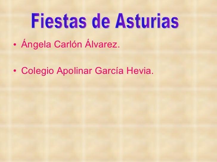 Fiestas de Asturias Angela