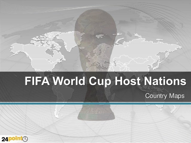 FIFA World Cup Map - Business PowerPoint Slides