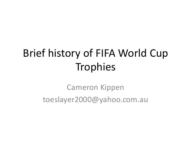 A brief history of FIFA world cup competitions