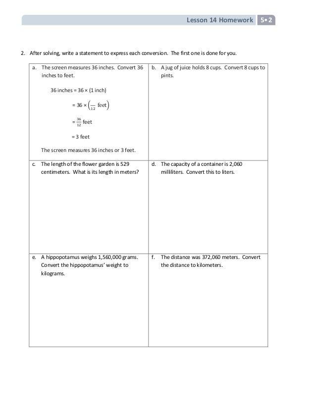 Fifth grade module 2 homework