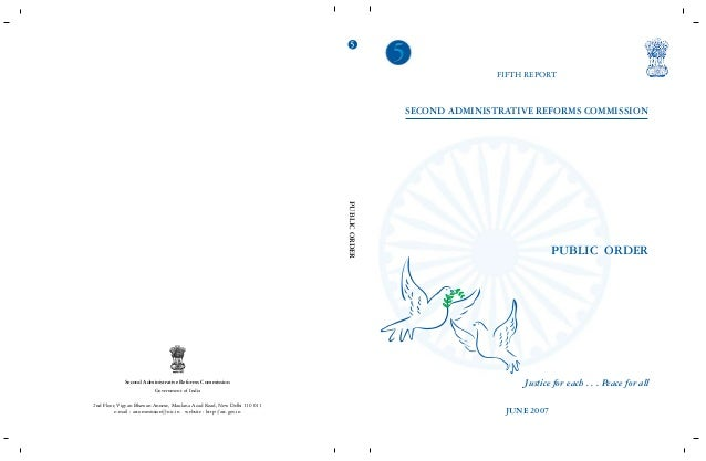 Second ARC(Fifth Report)- Public Order(Government of India)