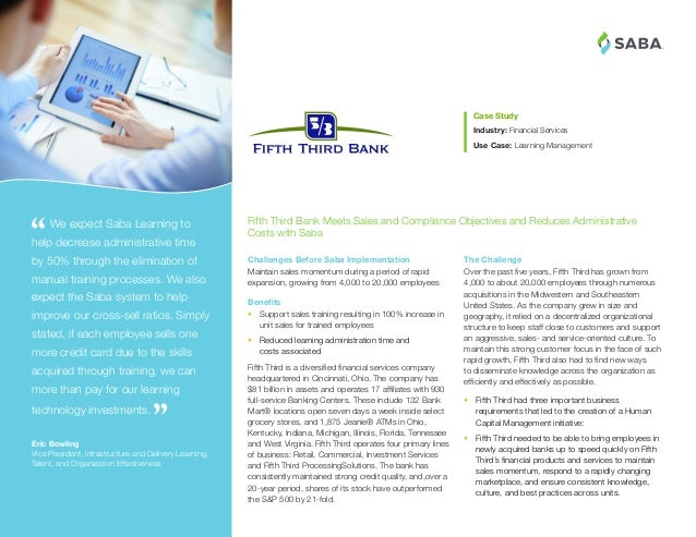 Learn how Fifth Third Bank uses Saba to Power their Learning Programs