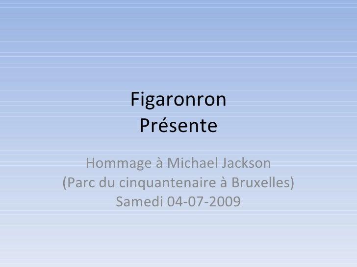 Figaronron Présente Hommage à Michael Jackson (Parc du cinquantenaire à Bruxelles) Samedi 04-07-2009