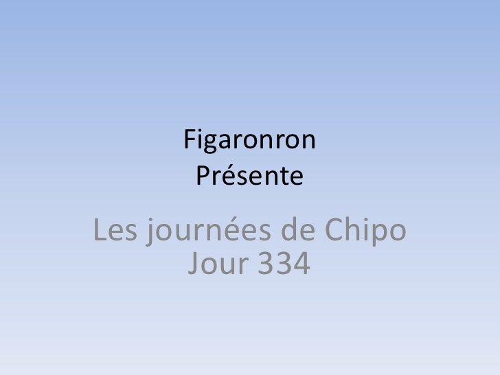 Figaronron       PrésenteLes journées de Chipo       Jour 334