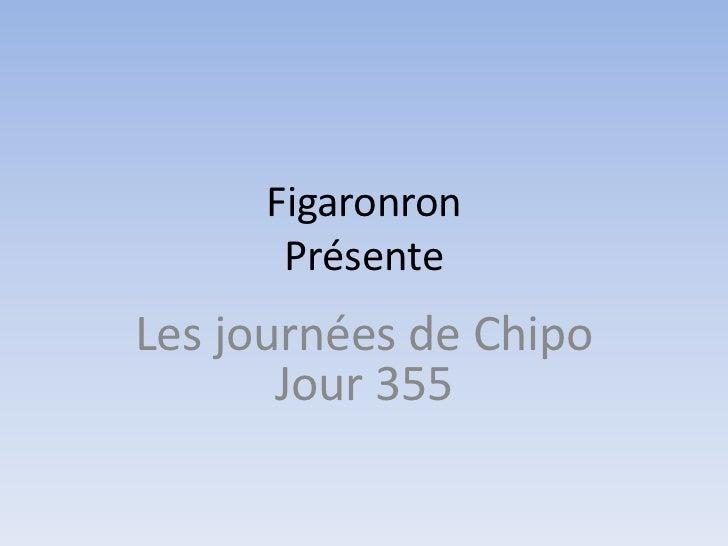 Figaronron       PrésenteLes journées de Chipo       Jour 355