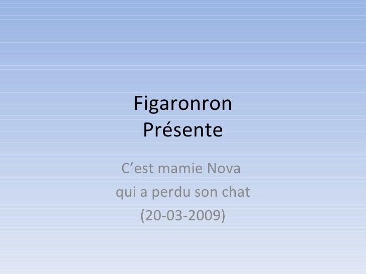 Figaronron Présente C'est mamie Nova  qui a perdu son chat (20-03-2009)