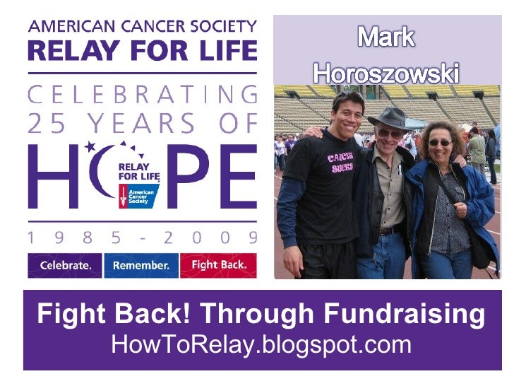 FIGHT BACK THROUGH FUNDRAISING