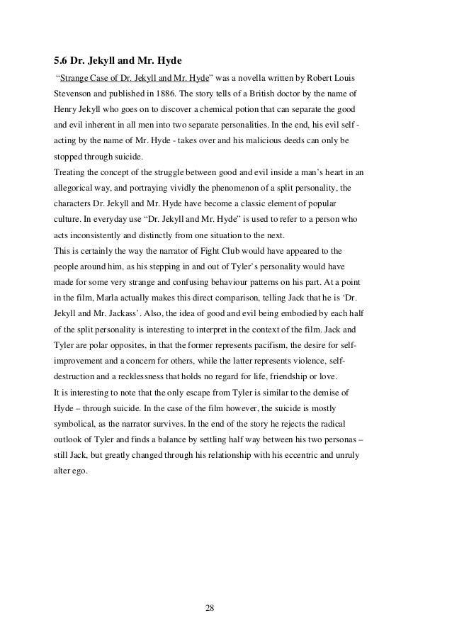 Fight club bob analysis essay