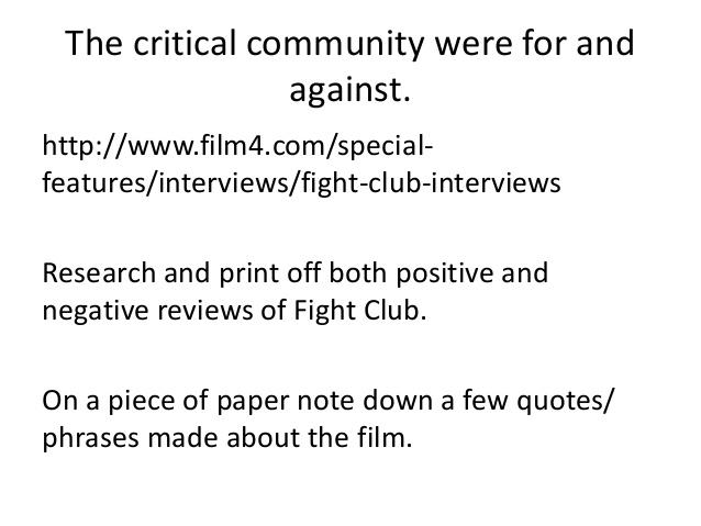 fight club essay multiple identity