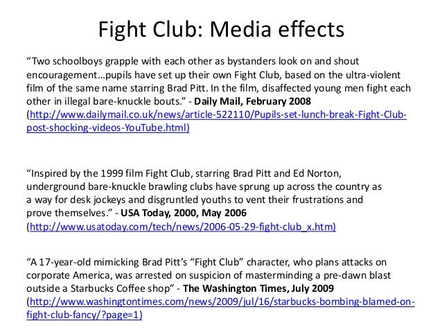 free fight club essay An analysis of the film fight club essays for years, david fincher has been  turning out some of the most stylish and inventive thrillers to ever hit the american .