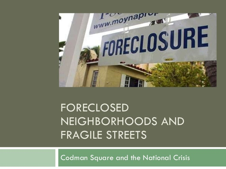 Fighting Back Foreclosures Presentation 9 7 2010