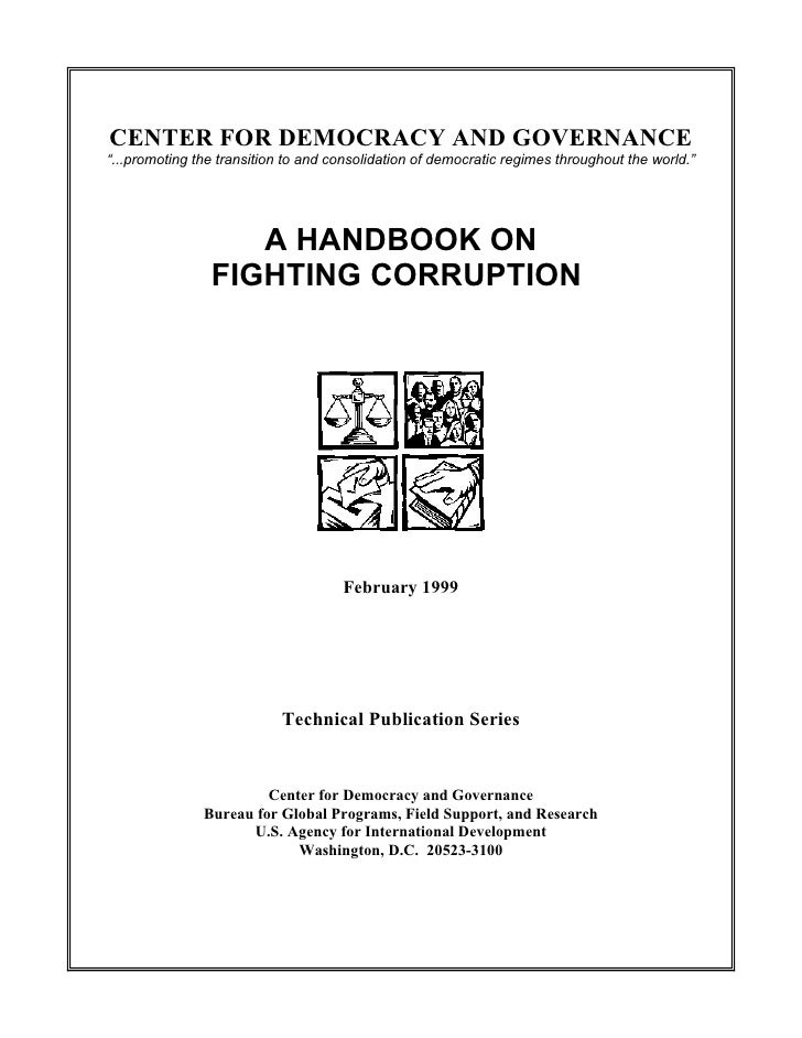 "CENTER FOR DEMOCRACY AND GOVERNANCE""...promoting the transition to and consolidation of democratic regimes throughout the ..."