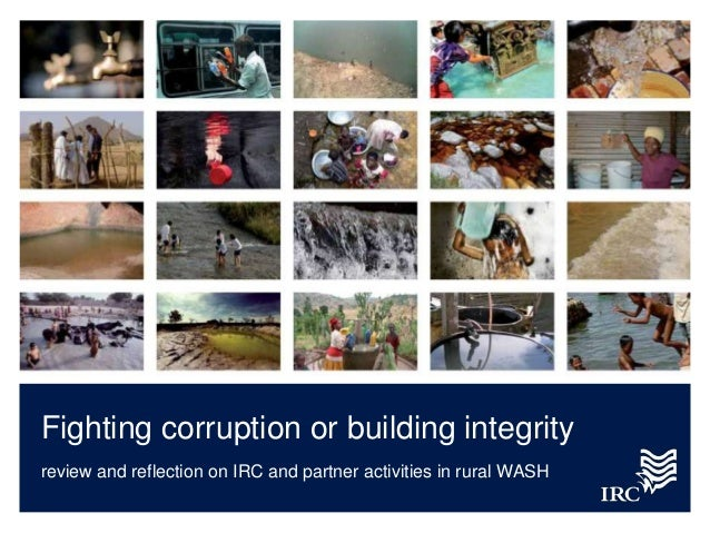Fighting corruption or building integrity: review and reflection on IRC and partner activities in rural WASH