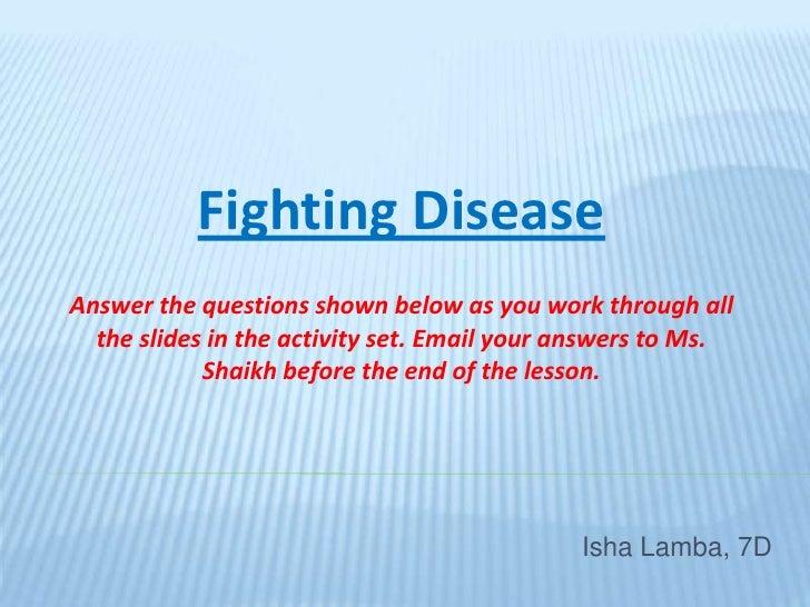 Fighting Disease Final