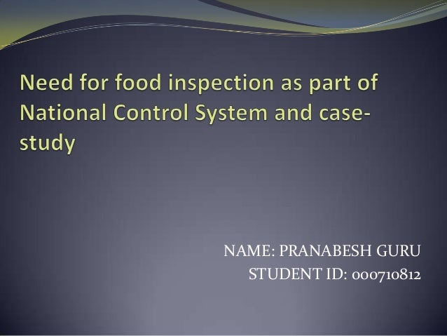 Food Inspection and Government Officials