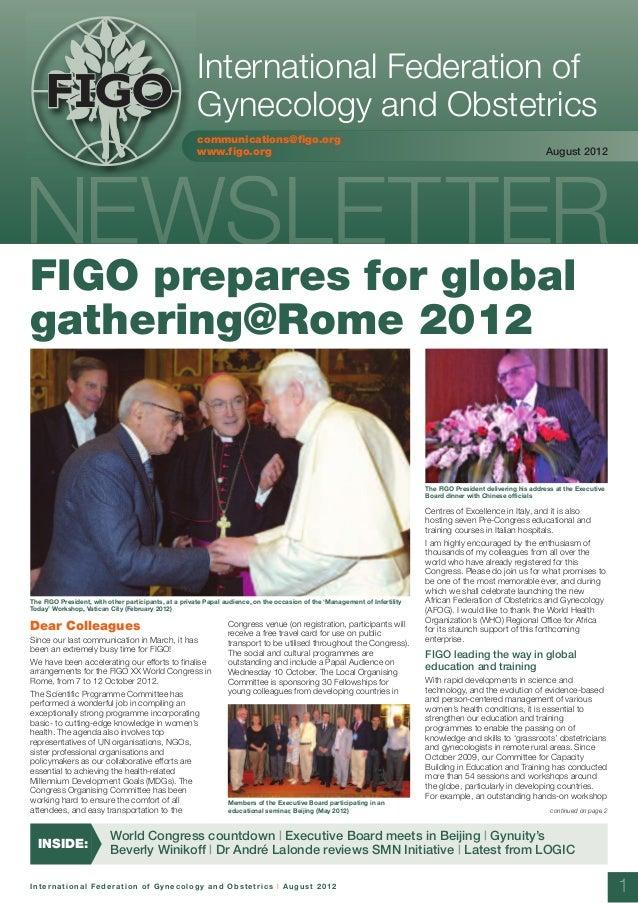 Figo newsletter august 2012