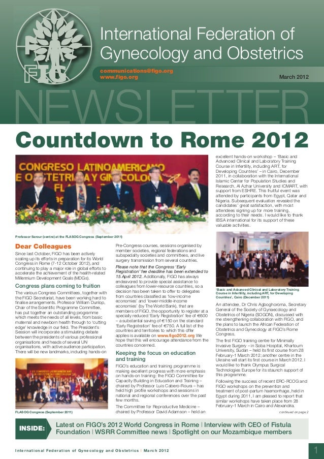 Figo newsletter march 2012