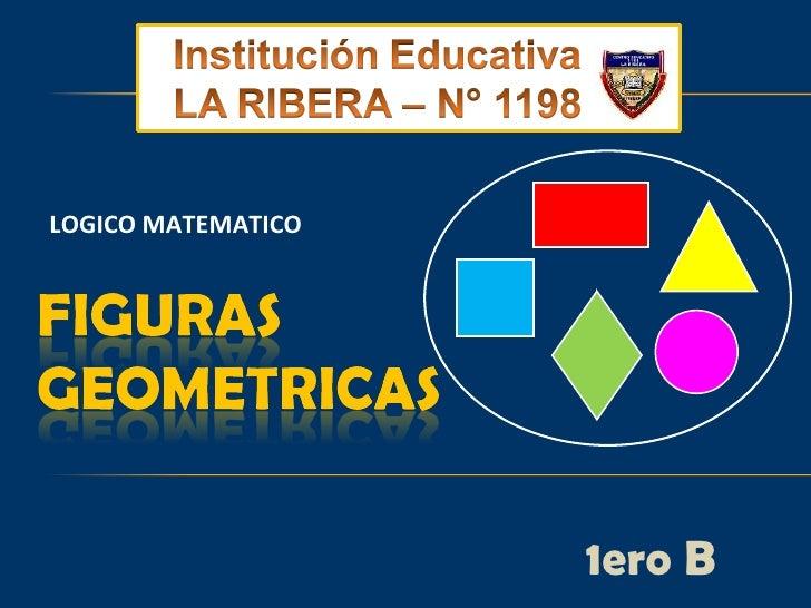 Figuras geometricas.Primaria. IE N° 1198. La Ribera. Aula de Innovaciones Pedagógicas.