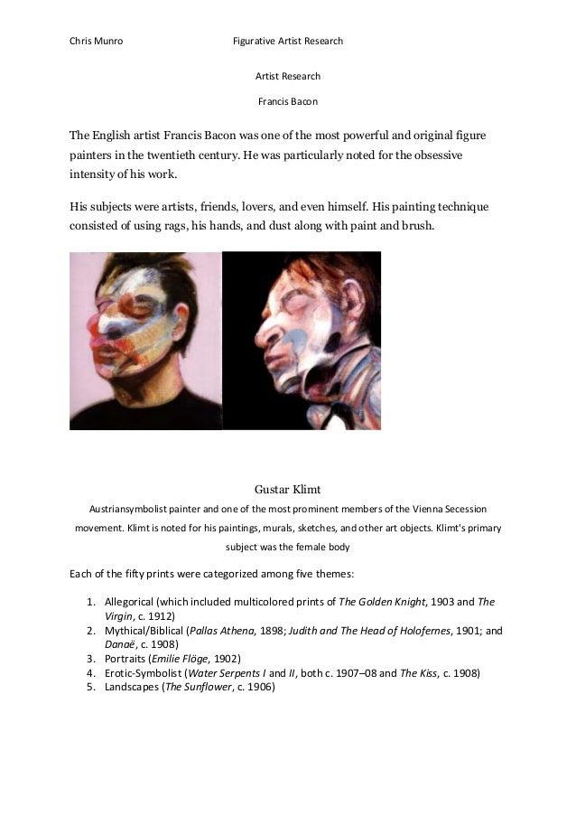 Chris Munro                           Figurative Artist Research                                           Artist Research...