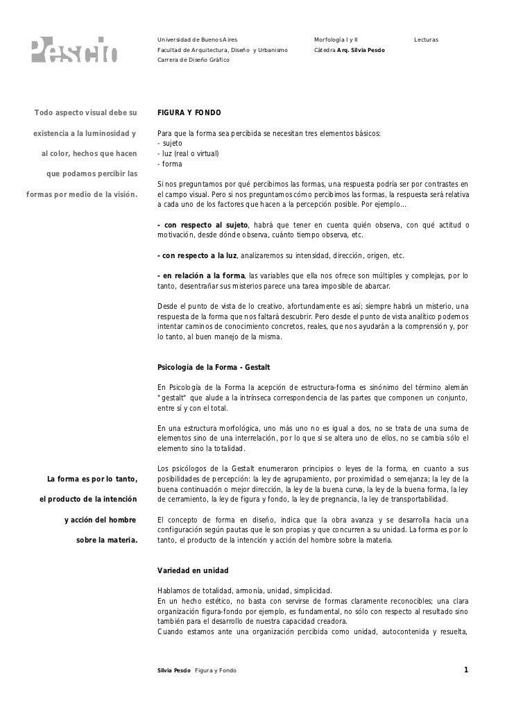 Universidad de Buenos Aires                     Morfología I y II              Lecturas                                  F...