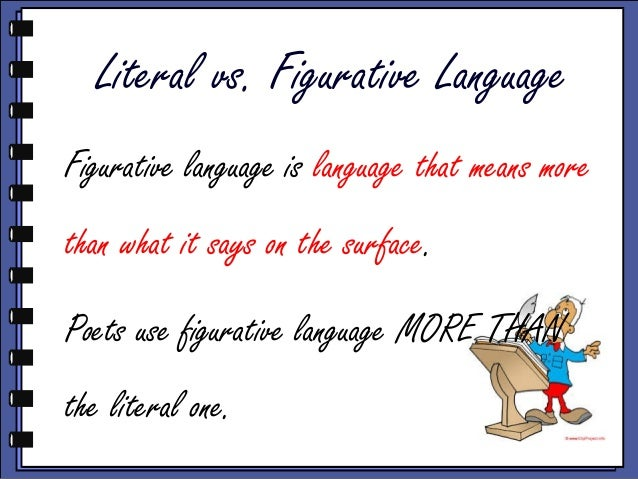 figurative language vs literal language Fin joyet 2004 language types we're going to look at two types of language: figurative language and literal language joyet 2004 figurative vs literal to understand figurative language figurative one has to understand the difference between and literal joyet 2004 more on.